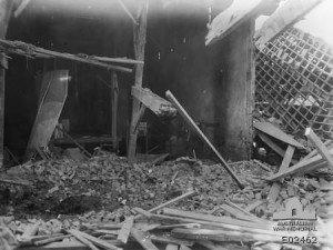 grange démolie, Allonville  31 mai 1918